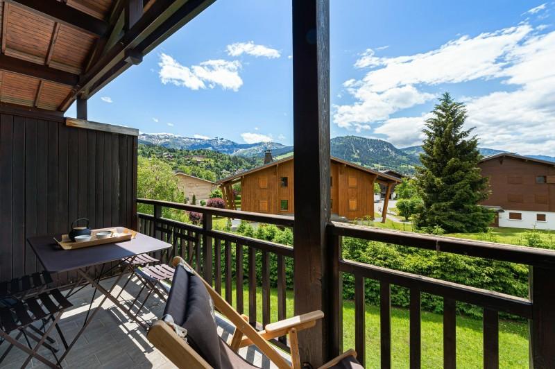 Megève Luxury Rental Appartment Cabrute Balcony 2
