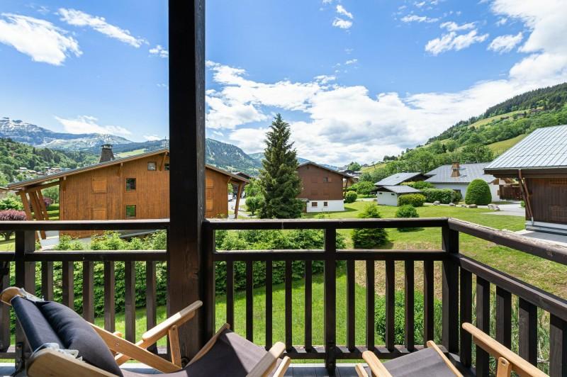 Megève Luxury Rental Appartment Cabrute Balcony