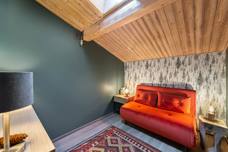 Megève Luxury Rental Appartment Cabrute Sofa Bed