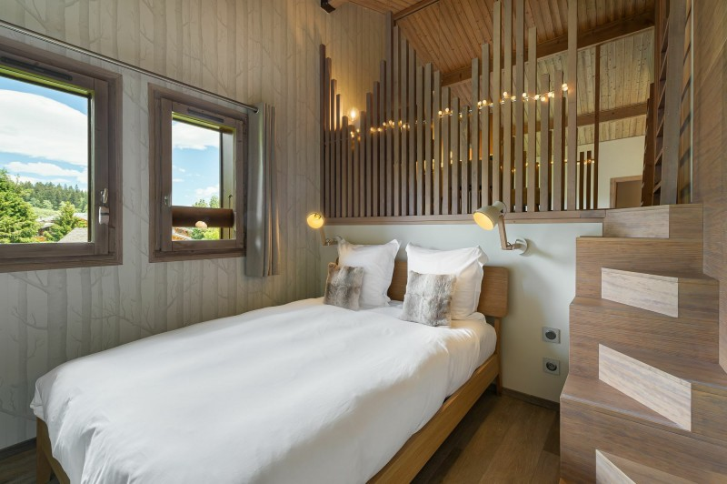 Megève Luxury Rental Appartment Cabrute Bedroom