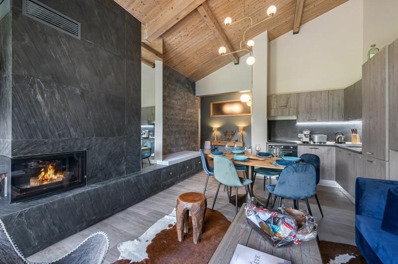 Megève Luxury Rental Appartment Cabrute Living Room 2