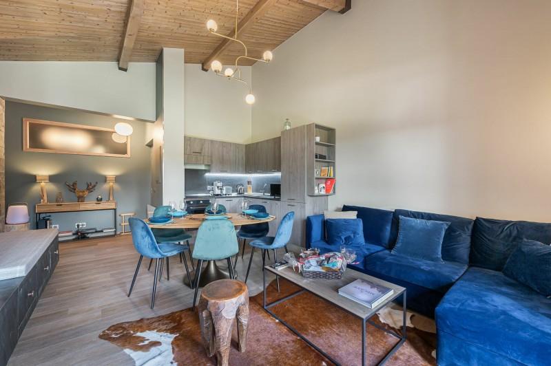 Megève Luxury Rental Appartment Cabrute Living Room