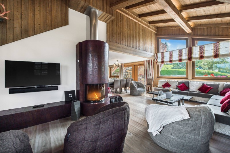 Megève Luxury Rental Chalet Cajolines Living Area 2