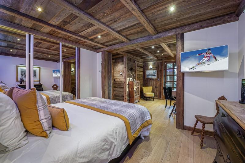Megève Luxury Rental Chalet Cajuelite Bedroom 2
