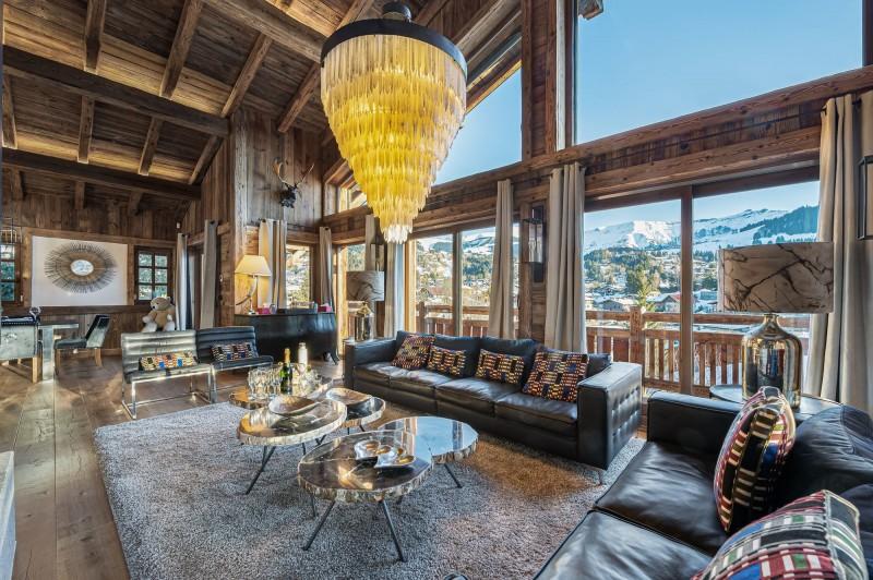Megève Luxury Rental Chalet Cajuelite Living Area 2
