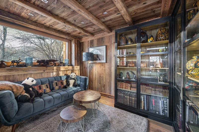 Megève Luxury Rental Chalet Cajuelite Living Area 3