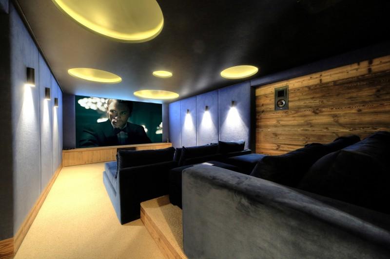 Megève Location Chalet Luxe Didiscus Salle Cinéma