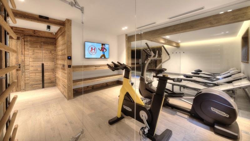 Megève Location Chalet Luxe Didiscus Salle De Fitness