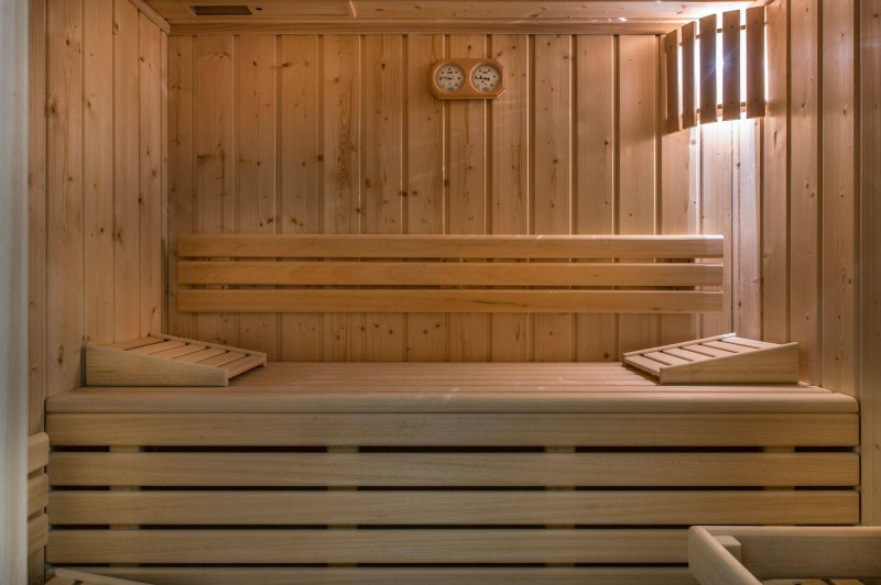 Megève Location Chalet Luxe Miki Blue Sauna