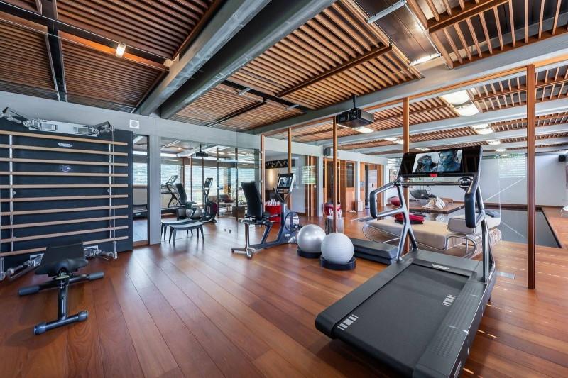 Megève Luxury Rental Chalet Sesamont Fitness Area