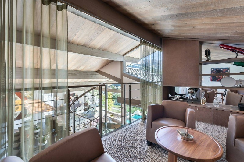 Megève Luxury Rental Chalet Sesamont Salon