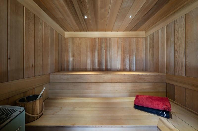 Megève Luxury Rental Chalet Sesamont Sauna