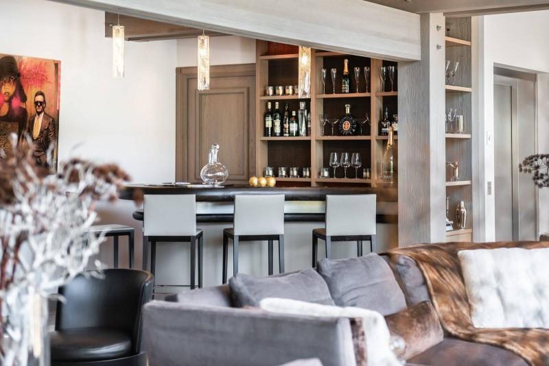 Megève Luxury Rental Chalet Sesamont Living Area
