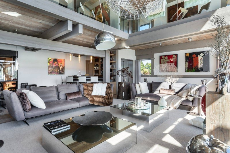 Megève Luxury Rental Chalet Sesamont Living Area 3