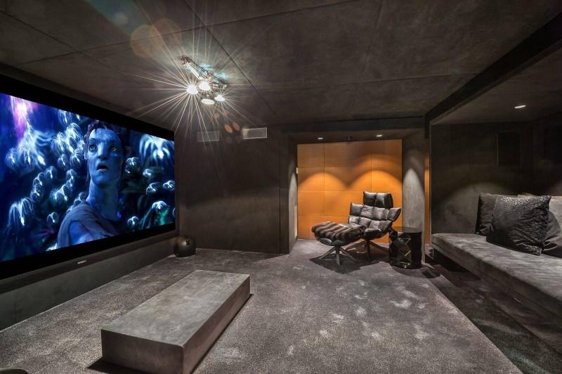 Megève Luxury Rental Chalet Sesanite Cinema Room