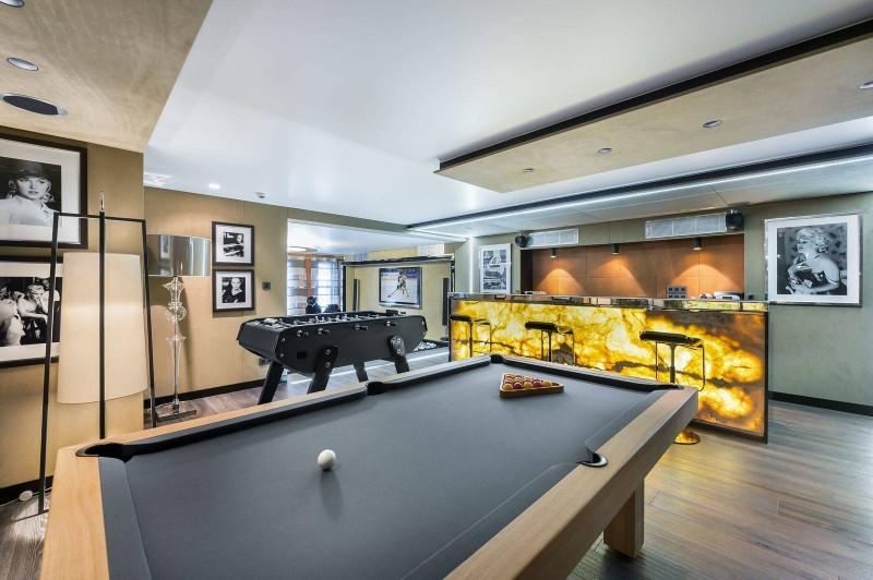Megève Luxury Rental Chalet Sesanite Game Area