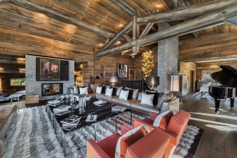 Megève Luxury Rental Chalet Sesanite Living Area 2