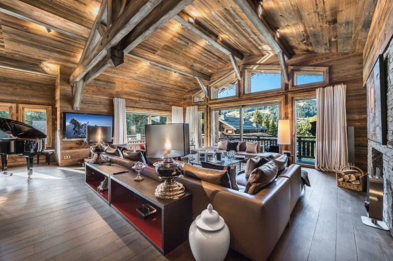 Megève Luxury Rental Chalet Sesanite Living Area 3