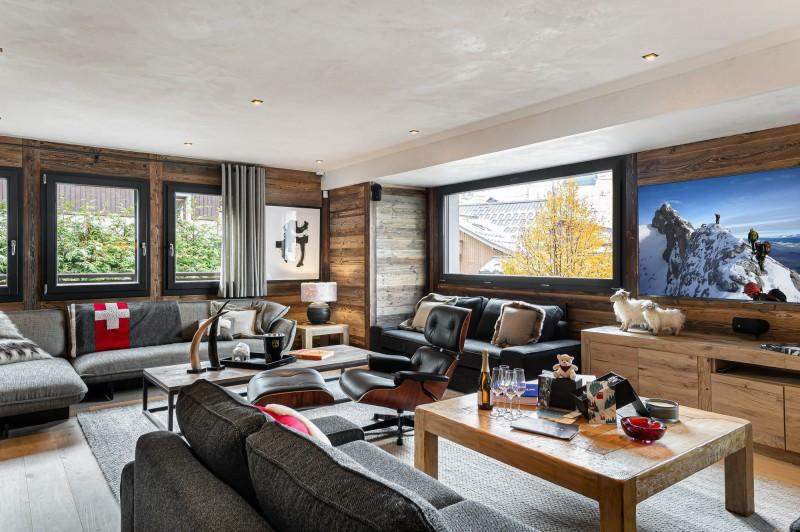 Megève Luxury Rental Chalet Sesune Living Room