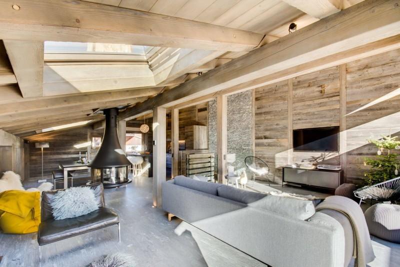 Megève Luxury Rental Chalet Taxo Living Area