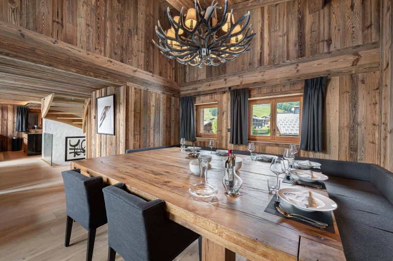 Megève Location Chalet Luxe Taxodoge Salle A Manger 2