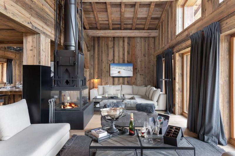 Megève Luxury Rental Chalet Taxodoge Living Area 2