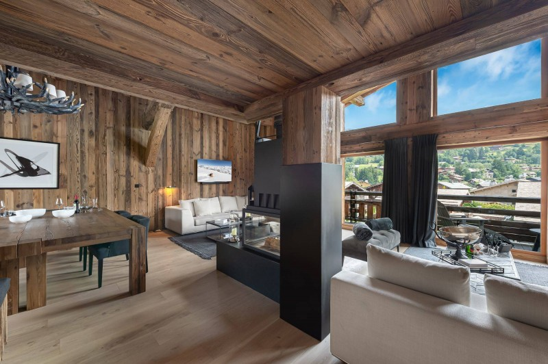 Megève Luxury Rental Chalet Taxodoge Living Area 3