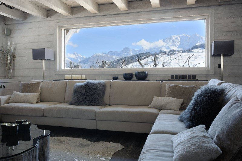 Megève Luxury Rental Chalet Taxone Living Area