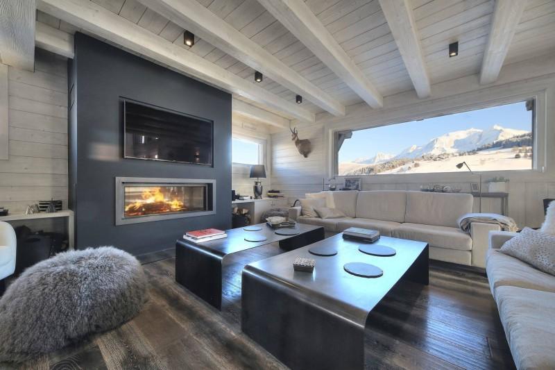 Megève Luxury Rental Chalet Telizite  Living Area
