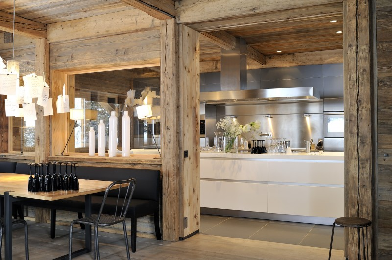 Méribel Luxury Rental Chalet Novaculite Kitchen