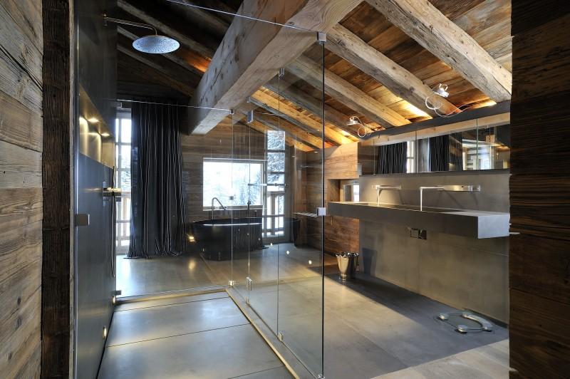 Méribel Luxury Rental Chalet Novaculite Shower Room