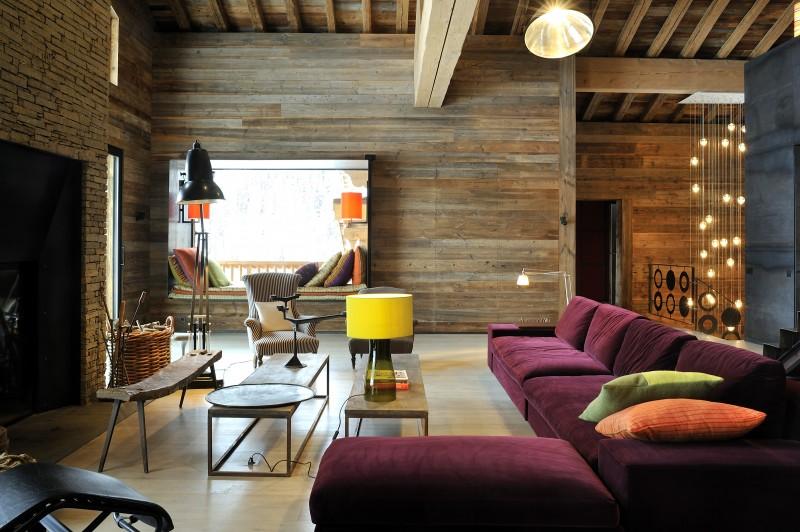 Méribel Luxury Rental Chalet Novaculite Living Room 2