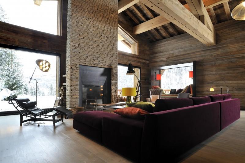 Méribel Luxury Rental Chalet Novaculite Living Room 3