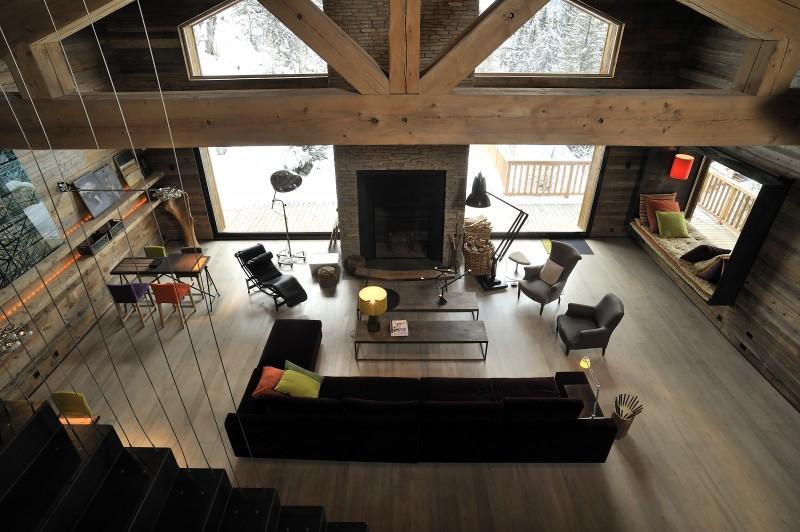 Méribel Luxury Rental Chalet Novaculite Living Room 4