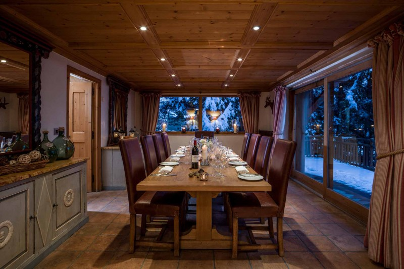 Méribel Luxury Rental Chalet Ulamite Dining Room 2