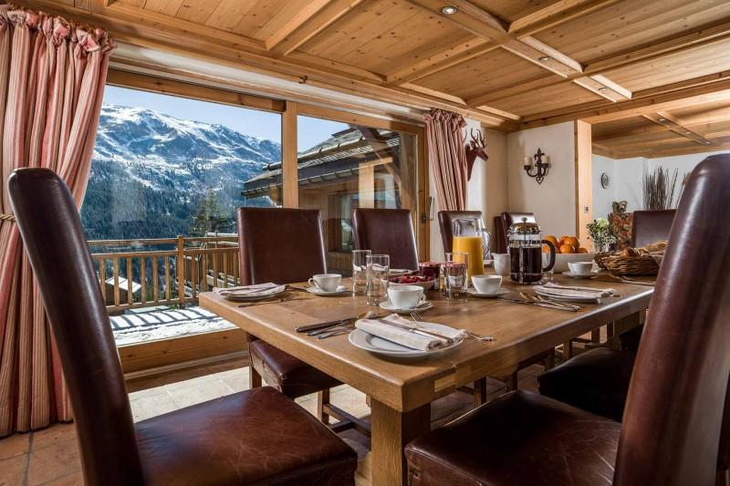 Méribel Luxury Rental Chalet Ulamite Dining Room