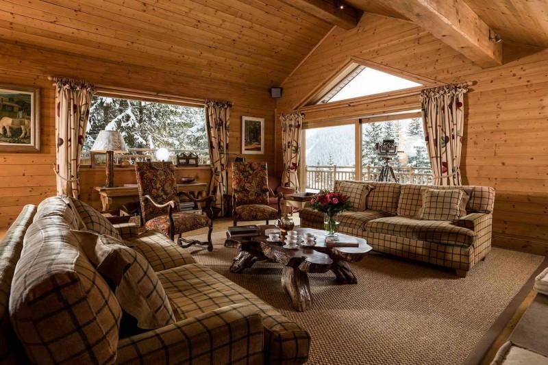 Méribel Luxury Rental Chalet Ulamite Living Room