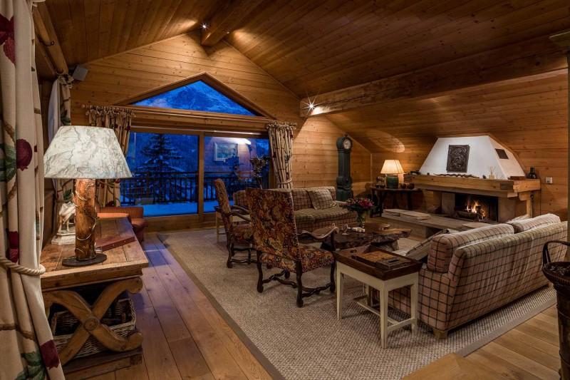 Méribel Luxury Rental Chalet Ulamite Living Room 3