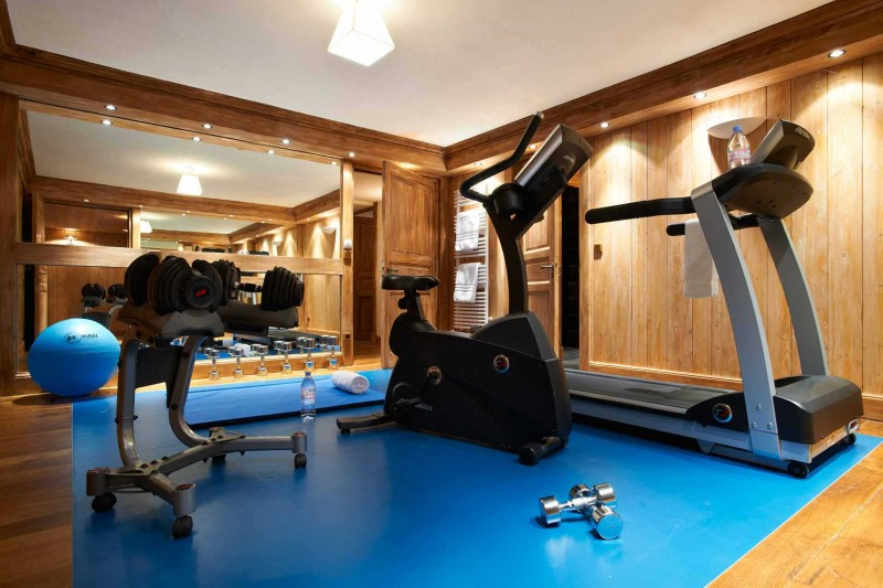 Méribel Location Chalet Luxe Ulomite Salle Fitness