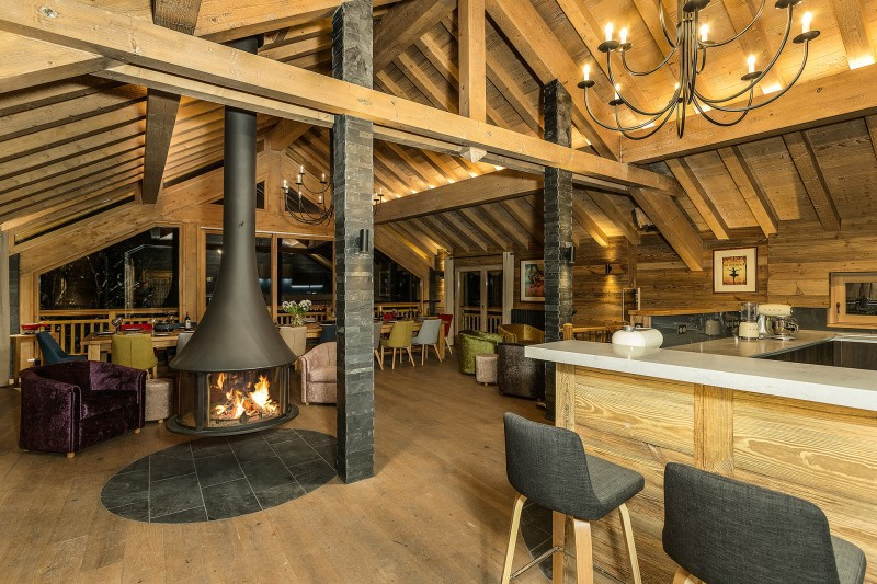 Méribel Luxury Rental Chalet Ulumite Living Room