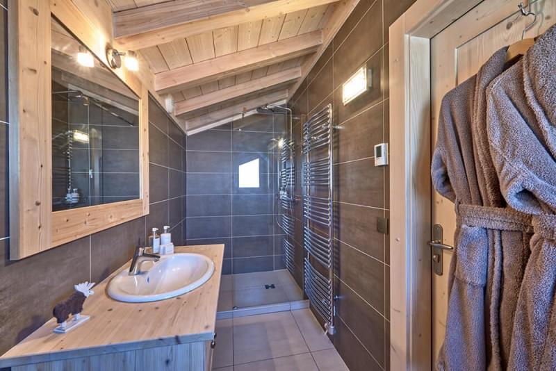 Morzine Luxury Rental Chalet Merlinate Shower Room