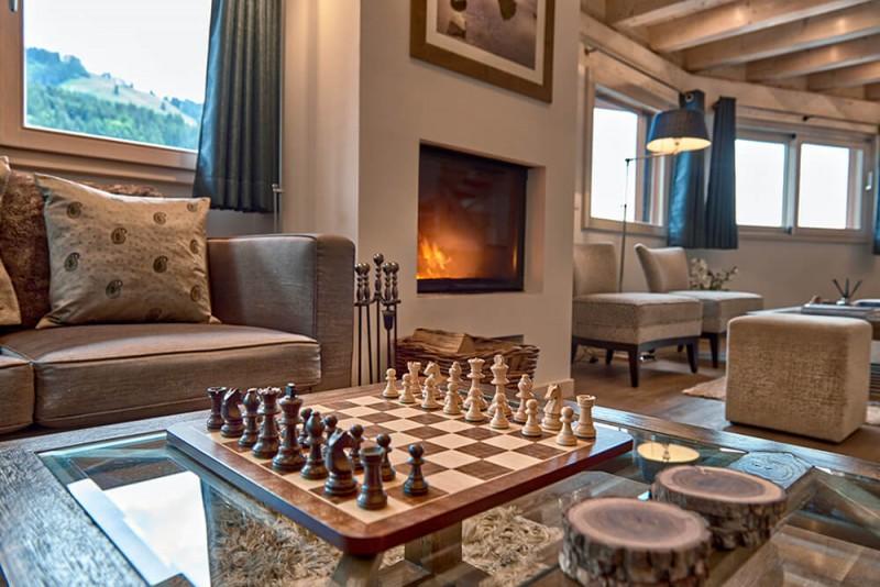 Morzine Luxury Rental Chalet Merlinate Living Room 2
