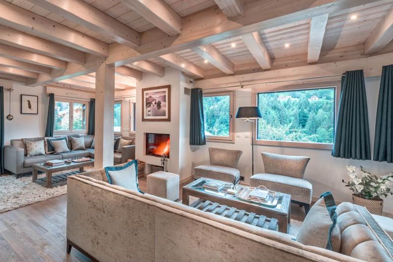 Morzine Luxury Rental Chalet Merlinate Living Room