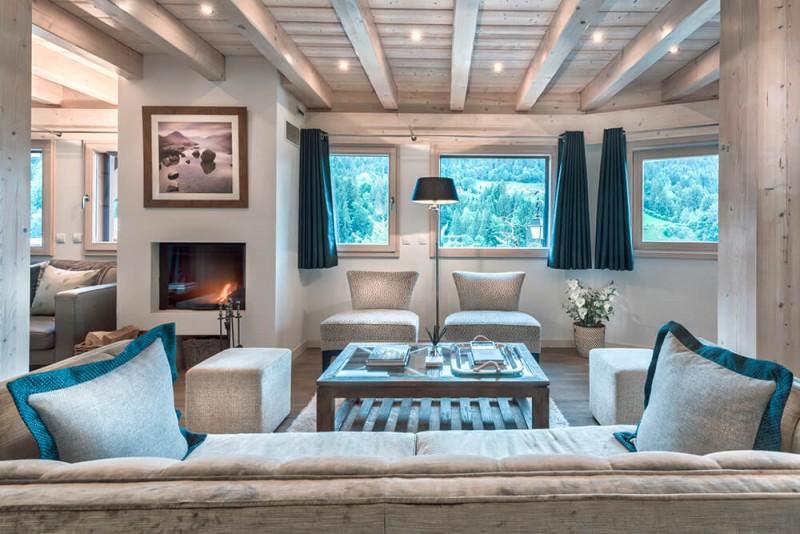 Morzine Luxury Rental Chalet Merlinate Living Room 3