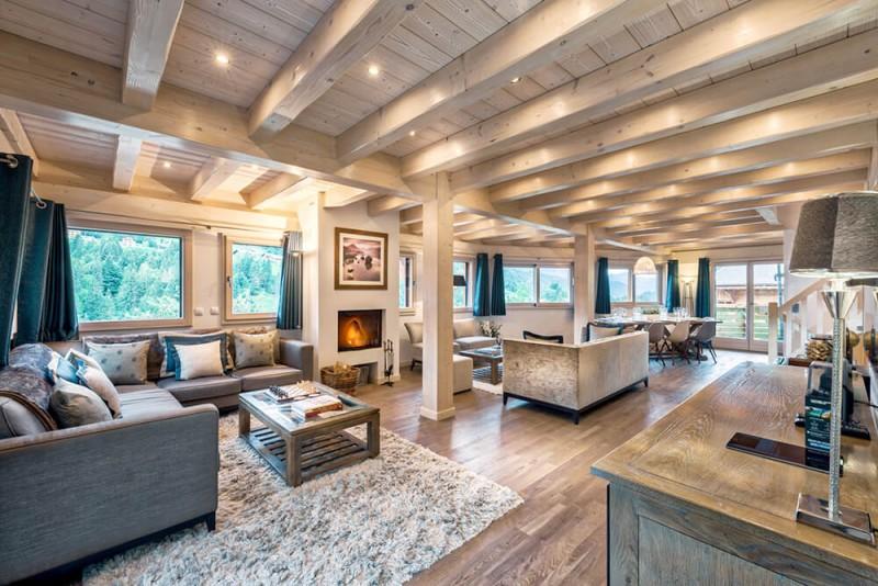 Morzine Luxury Rental Chalet Merlinate Living Room 5