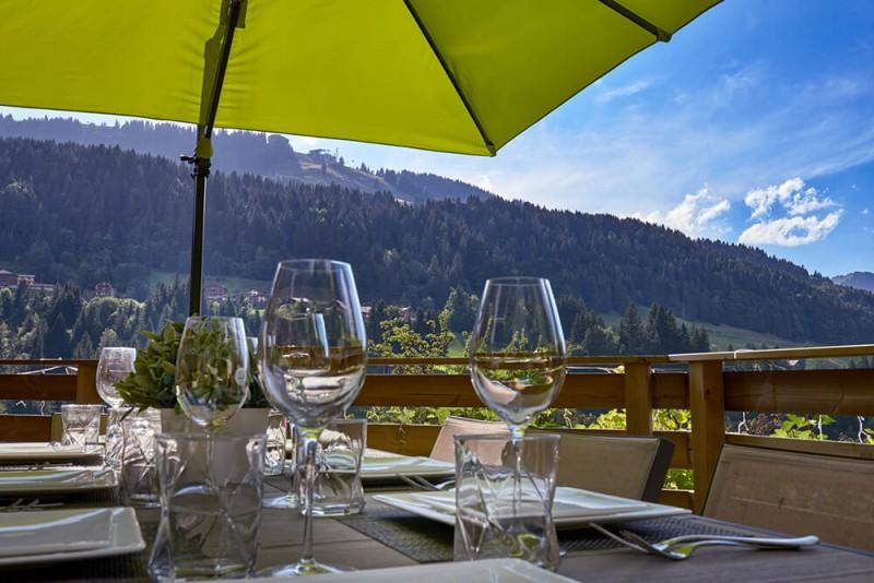 Morzine Luxury Rental Chalet Merlinate Terrace 2