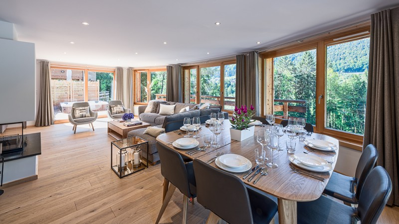 Morzine Luxury Rental Chalet Merline Dining Room
