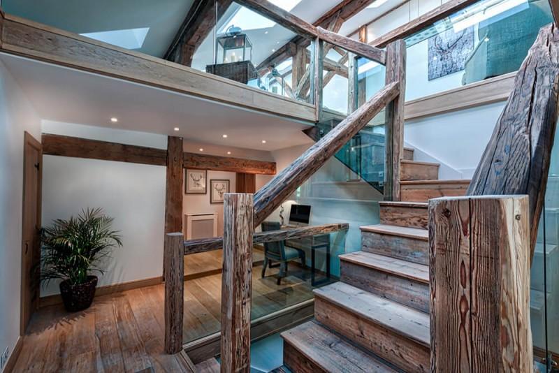 Morzine Luxury Rental Chalet Merlinute Stairs