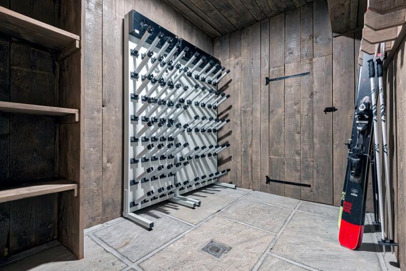 Morzine Luxury Rental Chalet Merlinute Ski Room