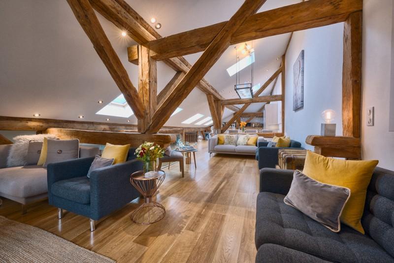 Morzine Luxury Rental Chalet Merlinute Living Room